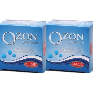 Akışık Ozon Yağlı Krem 60 ml Ozon Kremi 2 kutu