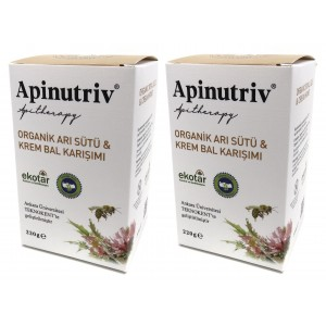 Apinutriv Organik Arı Sütlü Krem Bal 220 Gram 2 Adet