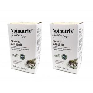 Apinutriv Organik Arı Sütü 60 Kapsül 2 Adet