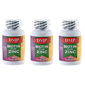 Dmp Biotin Plus Zinc 120 Tablets 3 Kutu