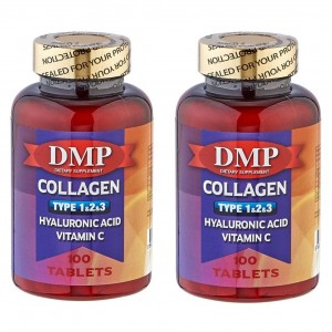 DMP Collagen Tip 1-2-3 Hyaluronic Acid Vitamin C 100 Tablets 2 Ku