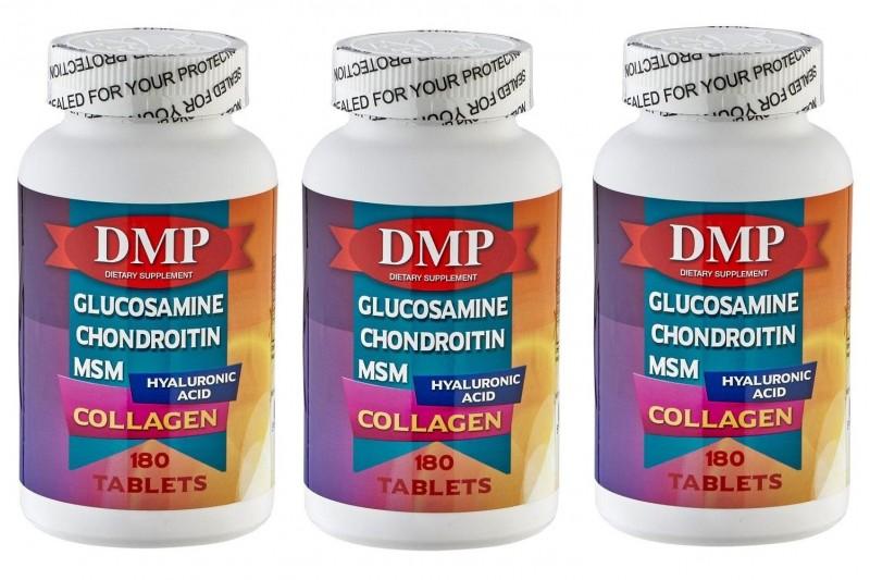 DMP Glucosamine Chondroitin Msm Hyaluronic Acid Collagen 180 Tablet