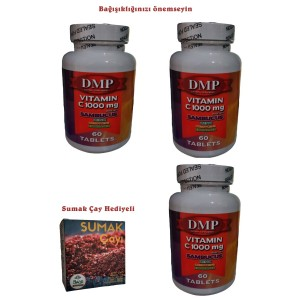 Dmp Vitamin C 1000 mg Çinko Kara Mürver Cordyceps Ekinezya 180 Tb