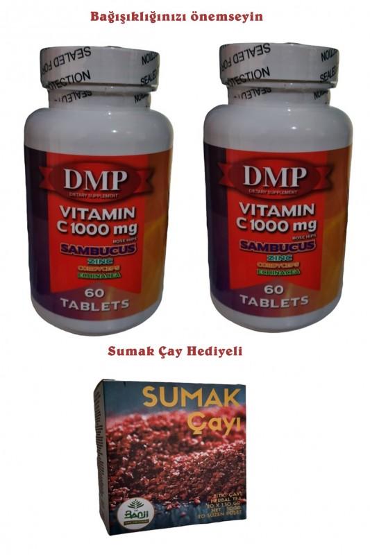 Dmp Vitamin C 1000 mg Çinko Kara Mürver Cordyceps Ekinezya 120 Tb