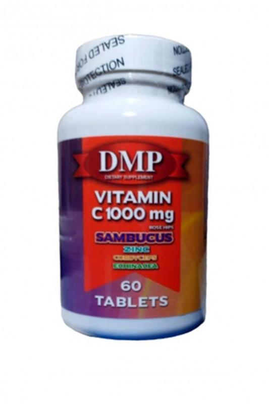 Dmp Vitamin C 1000 mg Çinko Kara Mürver Cordyceps Ekinezya 60 Tab