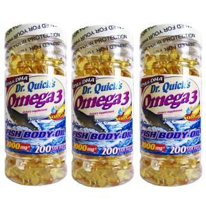 Dr Quicks Omega 3 Fish Oil 2000 mg 200 Softgels