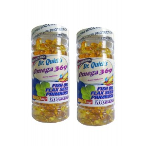 Dr Quicks Omega 3.6.9 Flax Seed Oil Primrose Oil 200 Softgel 2 Ad