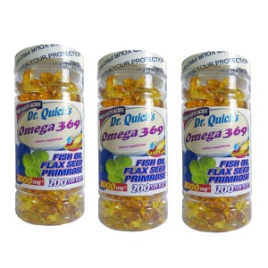 Dr Quicks Omega 3.6.9 Flax Seed Oil Primrose Oil 200 Softgel 3 Ad