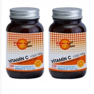 Force Nutrition Vitamin C 1000 mg 120 Tablet 2 Adet