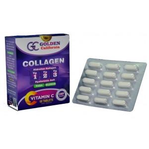 Golden California Collagen Hidrolize Tip 1-2-3 Hyaluronik Asit 60 Tablet