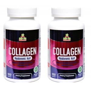 Mefa Naturals Collagen ve Hyaluronic Asit 100 Kapsül 2 Kutu