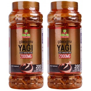 Mefa Naturals Çörek Otu Yağı 2000 mg 200 Softgel 2 Kutu