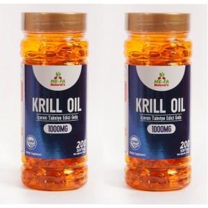 Mefa Naturals Kırmızı Krill Oil 1000 mg 200 Softgel 2 Kutu