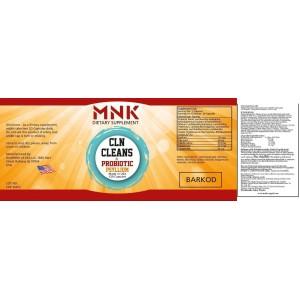 Mnk Cln Cleans Probiyotic Psyllium 60 Kapsül