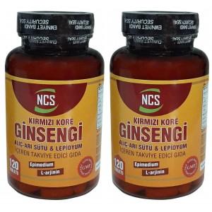 Ncs Kırmızı Kore Ginsengi Alıç Arı Sütü Lepidyum 120 Tablet 2 Kutu