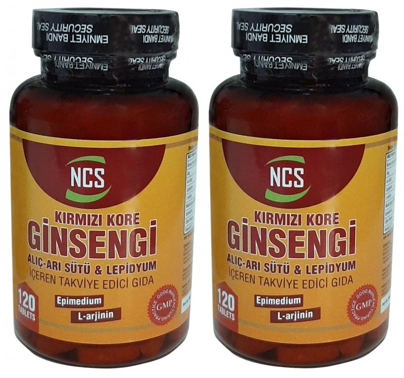 Ncs Kırmızı Kore Ginsengi Alıç Arı Sütü Lepidyum 120 Tablet 2 Kut
