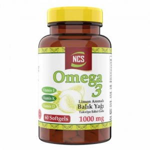 Ncs Limon Aromalı Omega 3 Balık Yağı 1000 MG 60 Yumuşak Kapsül