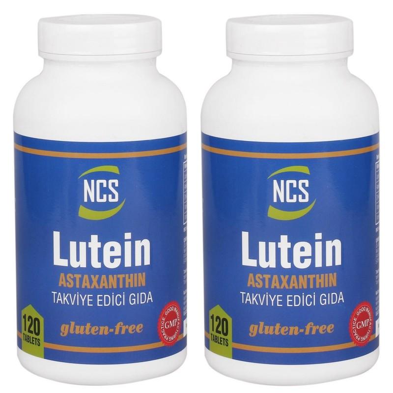 Ncs Lutein 15 Mg Astaxanthin (Astaksantin) 12 mg 120 tablet 2 kutu