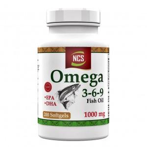 NCS Omega 3 6 9 Balık Yağı 1000 Mg 200 Softgel Evening Primrose