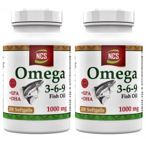 NCS Omega 3 6 9 Balık Yağı 1000 Mg 200 Softgel Evening Primrose 2 Adet
