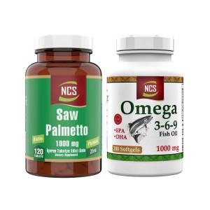 Ncs Saw Palmetto 1000 Mg 120 Tablet Pumpkin Biotin Zinc Ncs Omega 3.6.9 2 Ürün