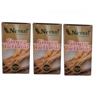 Nevsal Ginseng Toz Ekstratı Saf 15 Gr 3 Adet