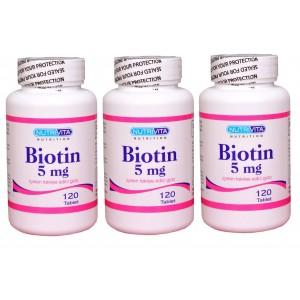 Nutrivita Nutrition Biotin 5 mg 120 Tablet 3 Adet