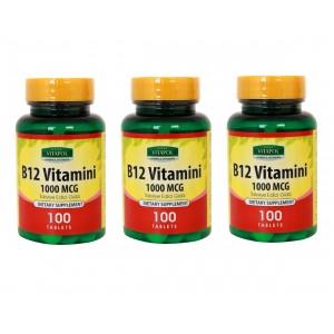 Vitapol Vitamin B12 100 Tablet 3 Adet Skt Şubat 2024