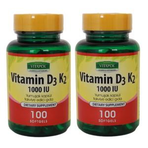 Vitapol Vitamin D3 K2 100 Softgel 2 Adet