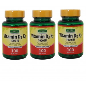 Vitapol Vitamin D3 K2 100 Softgel 3 Adet