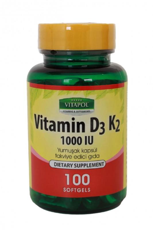Vitapol Vitamin D3 K2 100 Softgel
