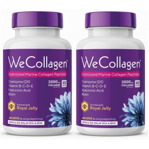 WeCollagen 45 Tablet, Hyaluronic Acid, Biotin, Collagen, Kolejen