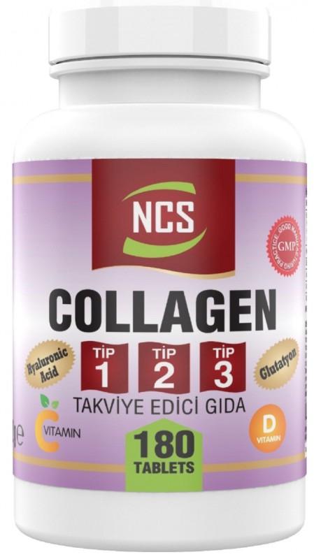 Ncs Hidrolize Collagen (kolajen) Type (tip) 1-2-3 Hyaluronic Acid Vitamin C Glutatyon 180 Tablet