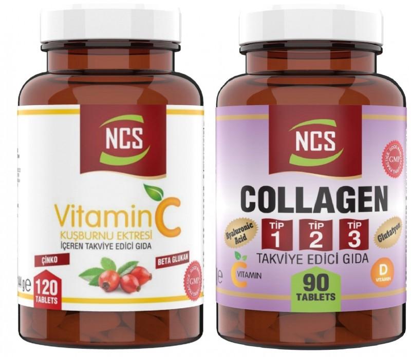 Ncs Hidrolize Collagen Tip 1-2-3 Glutatyon Vitamin D E 90 Tablet Vitamin C 1000 MG 120 Tablet