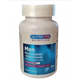 Nutrivita Nutrition Men Multivitamin Multimineral Probiyotik Ginseng Maca 90 Tablet