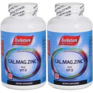 Trunature Calcium Magnesium Zinc Vitamin D 180 Tablet 2 Kutu