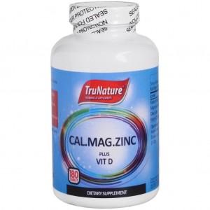 Trunature Calcium Magnesium Zinc Vitamin D 180 Tablet