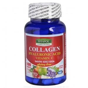 Vitapol Collagen Hyaluronic Acid Vitamin C 100 Tablet